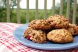 Biscuits d'avoine, canneberges et pépites de chocolat