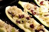 Courgettes farcies aux canneberges séchées