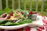 Salade de poulet aux canneberges séchées